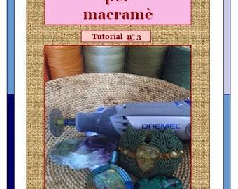 PDF macrame tutorial / Grooved stone / Macramedamare