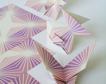 Origami Paper Modern - Starburst Geometric Origami Paper,  5 inch squares for folding origami, Colorful, Symmetrical,  DIY gifts