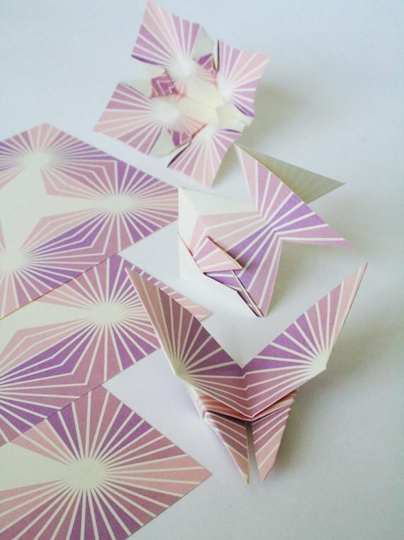items similar to origami paper modern starburst
