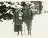 "Vintage Photo Postcard ""Winter Walk"", Photography, Paper Ephemera, Antique, Snapshot, Old Photo, Collectibles - 0050"