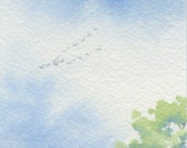 Original Watercolor Painting ACEO - Spring's near
