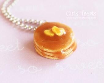 Pancakes Necklace - Miniature Food Jewelry