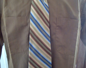 Vintage Silk Tie, Perry Ellis Striped Necktie