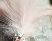Blush Pale Pink Hair Feather Accessory