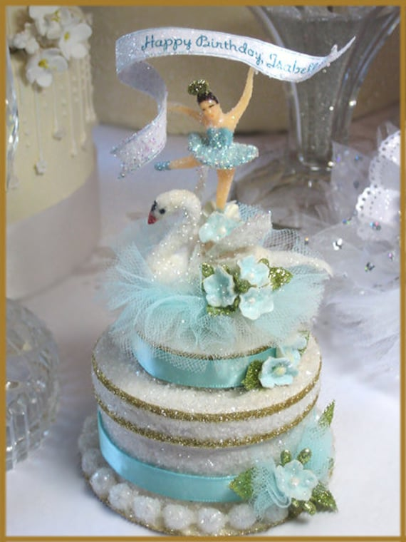 Swan Lake Cake Topper By Patriciaminishdesign On Etsy