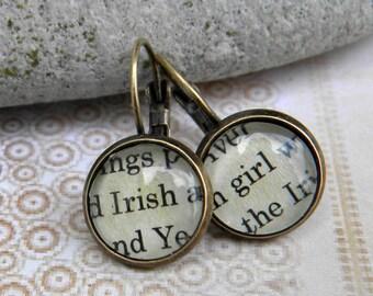 Word Earrings    IRISH GIRL  ----  Celebrate Your Irish