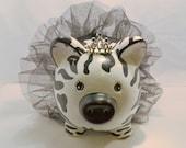 Zebra Ballerina Princess Piggy Bank