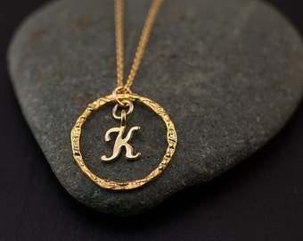 Mothers Day Gift - Personalized Initial Necklace - Gold Letter Necklace - Custom Initials Jewelry
