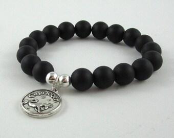 Birthday Cancer Zodiac Sign Gifts for Men, Women, Onyx Stones Mala Bracelet, Constellation Jewelry, Birthday Celebrations for Daughter