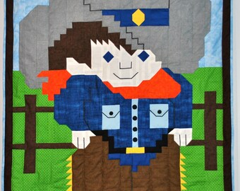 "Cowboy Quilt Pattern - 3 Sizes included: Crib 35""x46"", Lap 52""x69"", and Twin 70""x92"""