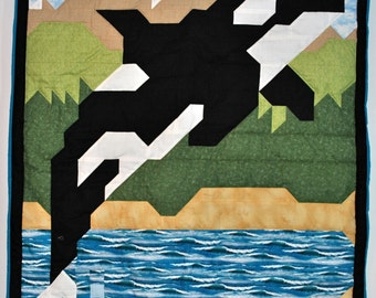 Orca Quilt pattern sizes include Wall, Crib, and Lap- PDF