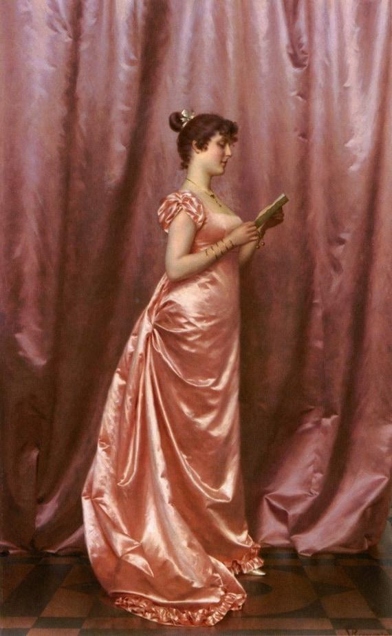Elegant Lady In Pink Cross Stitch Pattern Pdf Format