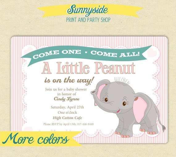 Elephant Themed Baby Shower Invitations for your inspiration to make invitation template look beautiful