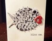 Handmade Valentine - kissy fish
