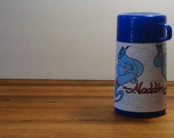 Disney Aladdin - Genie - Thermos - Vintage Thermos - Aladdin Industries - Kids Thermos - Walt Disney - 80's