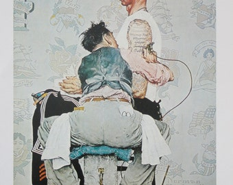 Norman rockwell favorite poster vintage poster art the for Norman rockwell tattoo