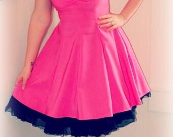 Hot pink pin up dress