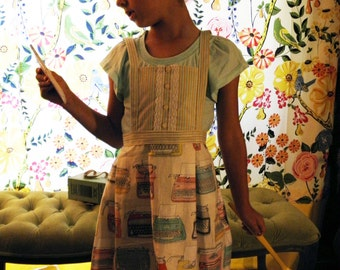Vintage Typewriter apron for your little home chef.