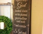 So God Made A Farmer -12x36 wood sign - Great Christmas gift for the Farmer