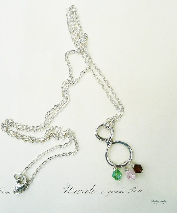 items similar to mothers day necklace birthstone charm