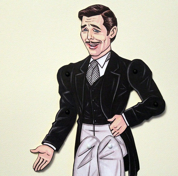Rhett Butler Articulated Paper Doll - Gone with the Wind - Clark Gable