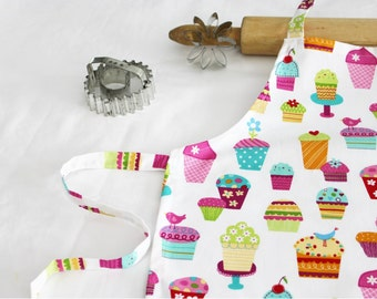 Sprinkles Cupcakes Child Apron - white