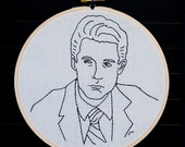 Twin Peaks Dale Cooper II Embroidered Wall Art. Currently on sale 40% off!