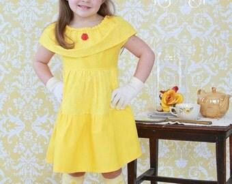 Bell Dress, Princess Dress,Disney Inspired Dress, Beauty and the Beast Dress, Princess Dress Up, Girls Costume, Halloween Costume
