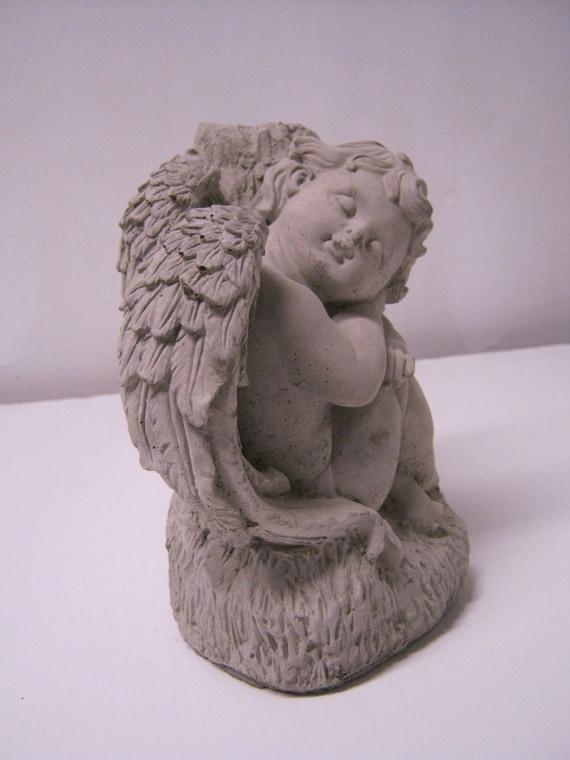 Angel Child Garden Statue Of Cherub In Sweet Repose Angel