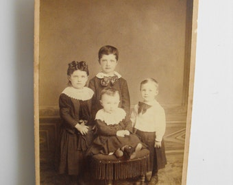 Early 1900's photograph of children Frankfort Station Will County Illinois