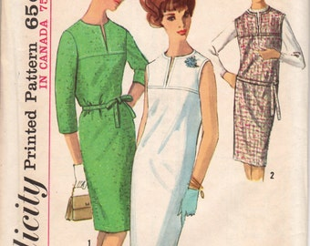 Bust 36-FACTORY FOLDED 1964 Misses' Dress Simplicity 5541 Size 16
