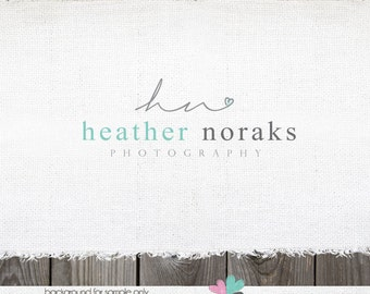 logo design heart logo Premade logo Photography logo Sewing Logo Blogger logo blog header blog logo photography logos and watermarks