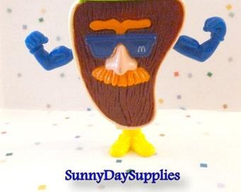 Vintage McDonalds Happy Meal Toy, T Bone Steak, Changeables, Muscle Man,  Steak Man,  1 in Lot, McDonalds Food Toy