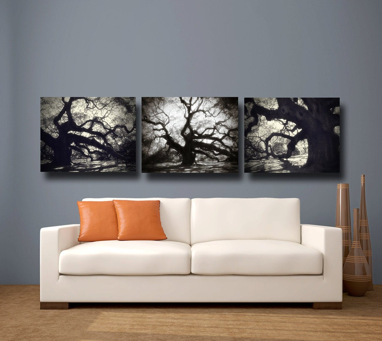 Tree Photography Black White Canvas Art By AmyTylerPhotography