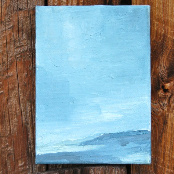 minimalist. original oil painting on 5 x 7 in. canvas.