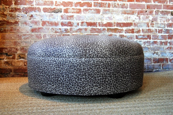 Leopard Ottoman Coffee Table By Marthaandash On Etsy