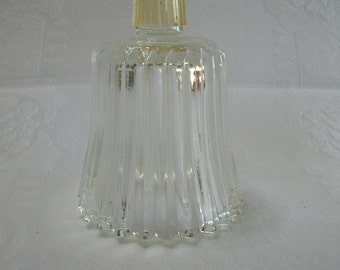 Home Interiors Vintage Clear Glass Ribbed Candle Cup for a Candle Holder Sconce