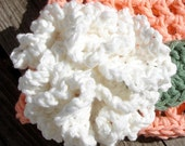 Crochet Pattern for Flower & Leaves Pattern Pack - five flowers and 2 leaf sizes - Welcome to sell finished items