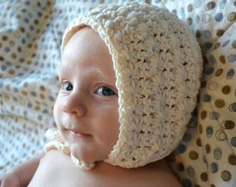 Crochet Pattern for Vintage Star Baby Bonnet Hat - 7 sizes, baby to child - Welcome to sell finished items