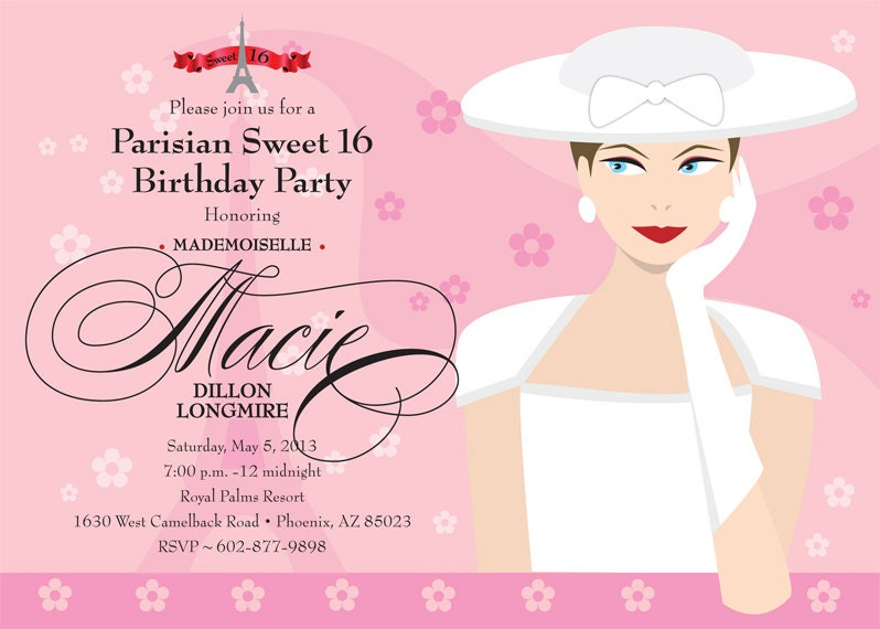 Th Birthday Ideas Birthday Invitation Template In French - Birthday invitation cards in french