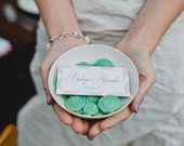 50 Mint Chocolate Buttons: Audrey Green