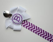 Pacifier Clip Monogram Pacifier Clip  Pink Chevron Personalized Baby Girl  Pacifier Holder Soothie Nuk Mam Great for Twins Baby Gift