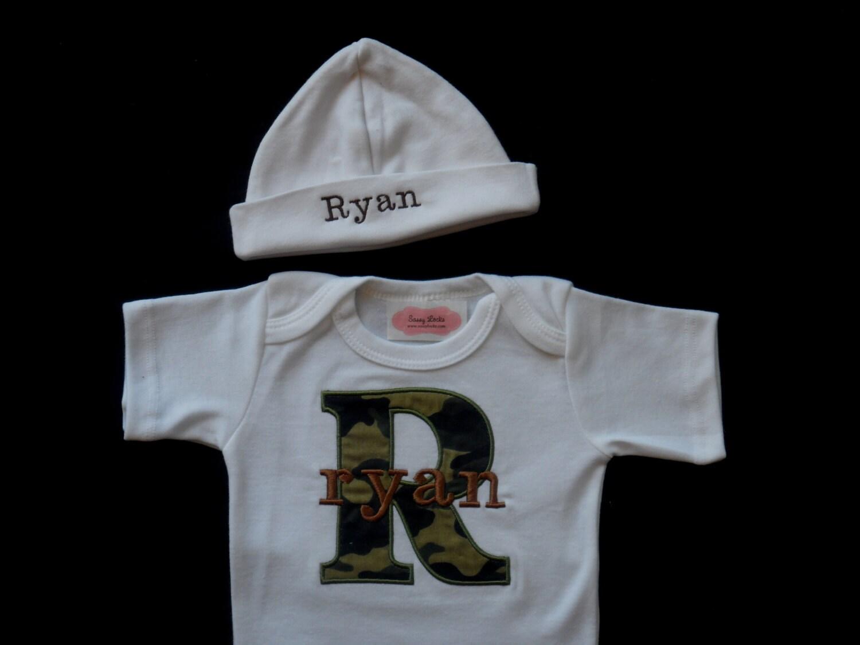 personalized baby boy clothes monogram baby boy camo by sassylocks