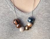Urchin: Ceramic Bead Necklace
