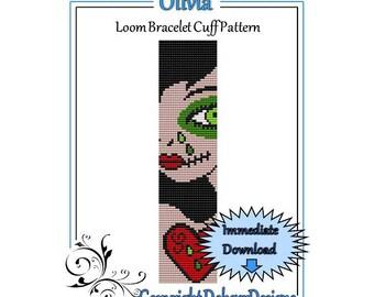 Bead Pattern Loom(Bracelet Cuff)-Olivia