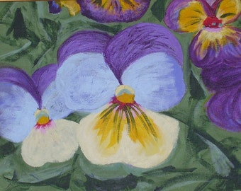 "Pansy Greeting Card, 5""x 7"""
