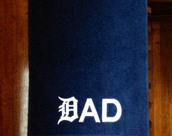 "DAD Golf Towel- Detroit ""D"""