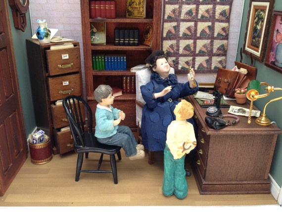 Miniature Children S Bedroom Room Box Diorama: The PRINCIPAL'S OFFICE A Miniature Room Box Diorama