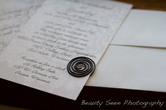 Wedding Invitation Lovee, Paper Suite Fasteners, Fine Wedding Details
