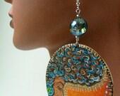 Sunset Mahogany Blues Sister Earrings